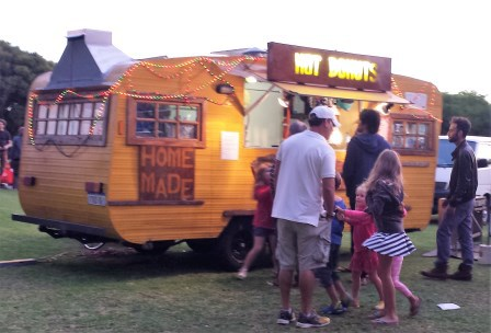 South Beach Sunset Markets, Fremantle, Saturday night, food vans