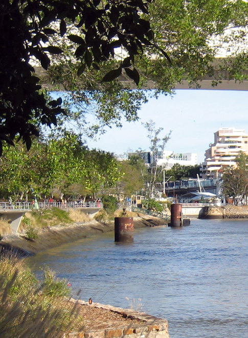The remains of the South Brisbane Warves