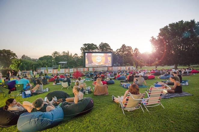 sunset cinema, sunset cinema brisbane, outdoor cinema brisbane, mt coottha botanic gardens, outdoor cinema botanic gardens, outdoor cinema mt coottha, botanic gardens cinema, cinema march brisbane
