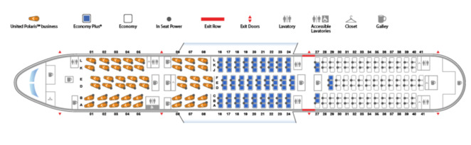 United Airlines review seat configuration