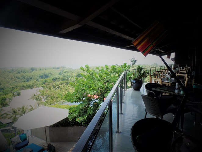 upper level of UNIQUE Rooftop Bar & Restaurant at Rimba Jimbaran Bali by AYANA