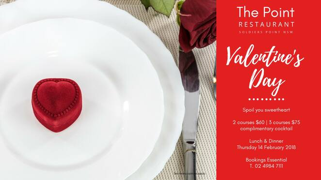 valentines day, the point,soldiers point, port stephens, NSW, romantic restaurants, restaurants,