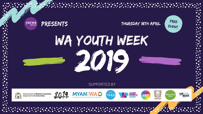 yacwa wa youth week 2019, community event, fun things to do, youth affairs council of WA, the yep project, youth pride network, ypn, millennium kids inc, whitelion wa, youth disability advocacy network, ydan, multicultural youth advocacy network of wa, myan wa, community event, fun things to do, free event, arts and cultural activities, cultural event, wa young person of the year 2018, kamsani bin salleh, live performances, market stalls, activities, free lunch, family fun