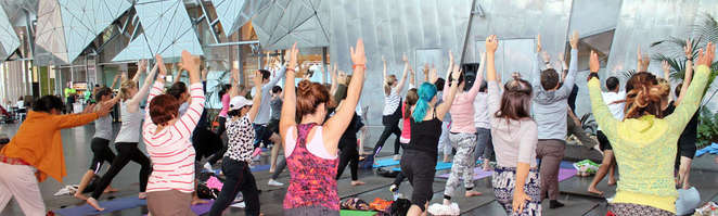 yoga at fed square