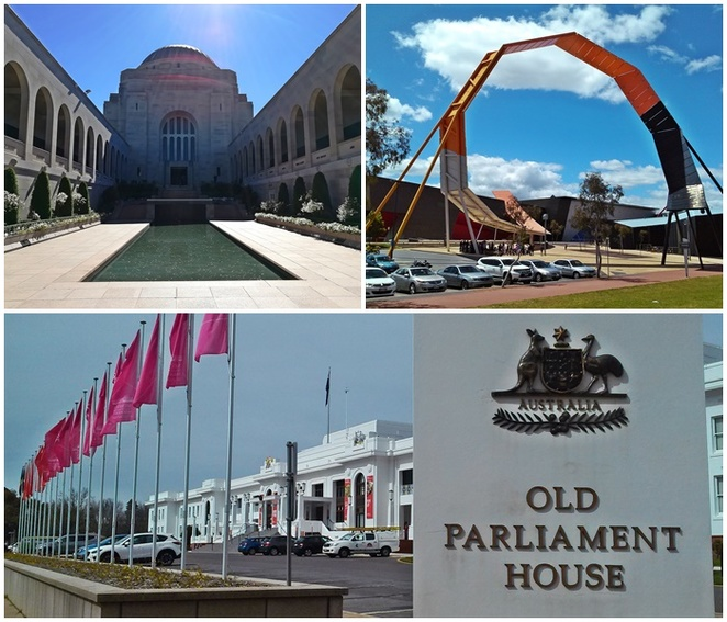 australian war memorial, old parliament house, museum of australian democracy, national museum of australia, canberra, best museums, ACT,