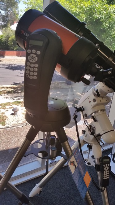A telescope with auto tracking capabilities.