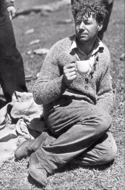 Bernard O'Reilly taking a break after rescuing the Stinson Survivors (Courtesy of O'Reilly's Rainforest Retreat)