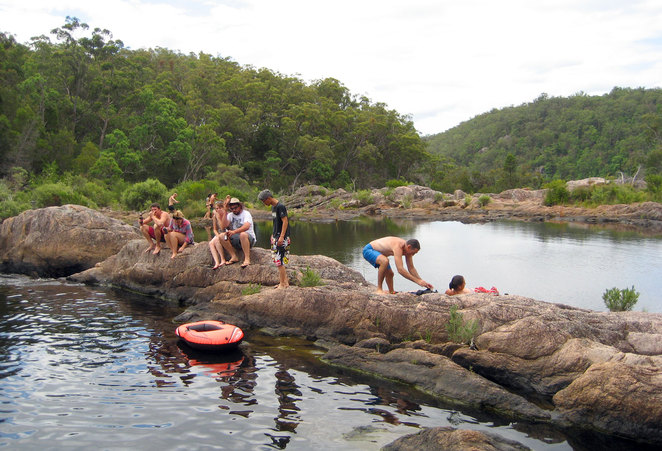 The rock pools at Boonoo Boonoo National Park