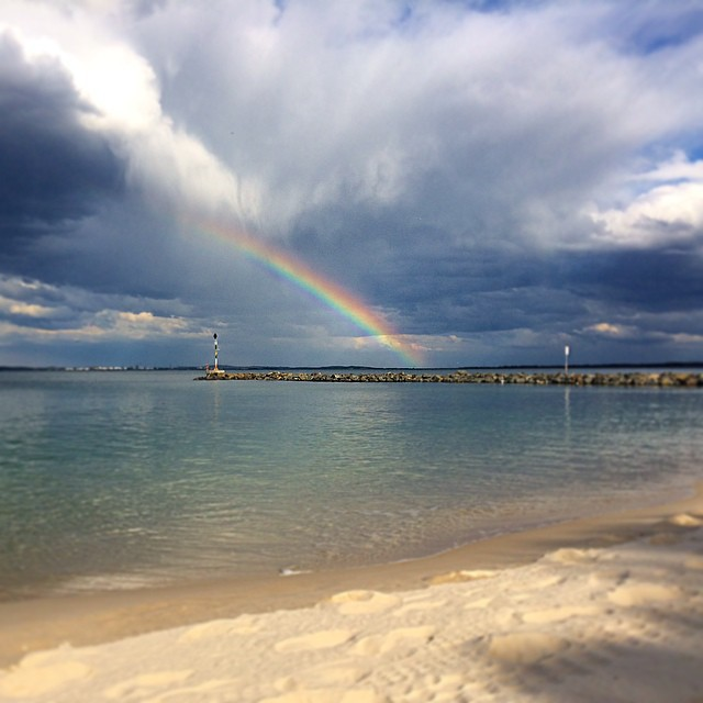 botany bay, ramsgate beach, monterey, clouds, blue sky, storm, rain, sydney, weather, changing, view, rainbow, sun