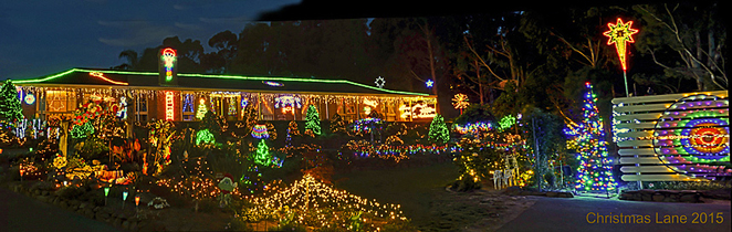 Christmas, lights, display, pegandbill, Lobethal, 2016, house, garden