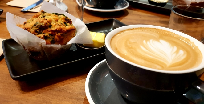 Coffee, savoury, muffins, cafe, Lennox Head, breakfast, lunch, baking