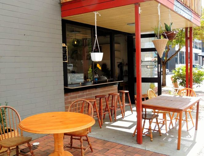 depot collective cafe, the depot, the joinery, conservation council sa, bus station, menu options, common ground, community garden, in adelaide, eating alfresco
