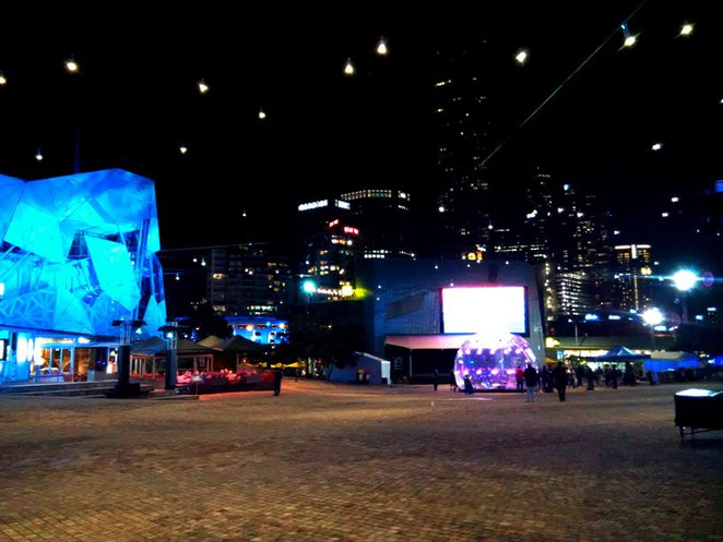 Federation Square night scene