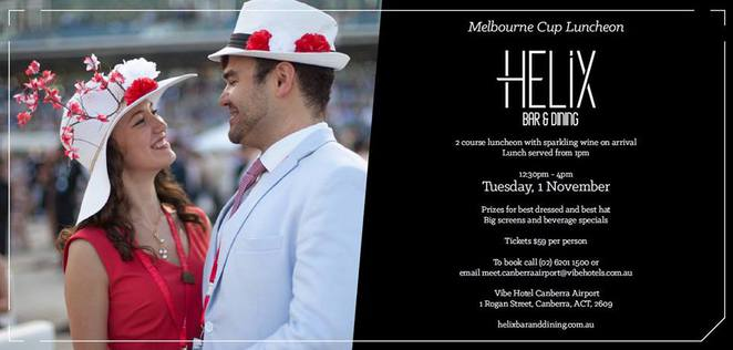 helix bar and dining, canberra, melbourne cup, 2016, ACT, vibe hotel, lunch, events,
