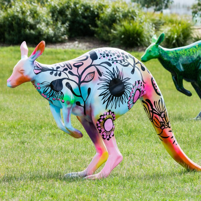 Hop For Hope, Alannah and Madeline, Yarra Valley, kangaroo, kangaroo art