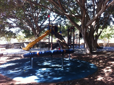 Playground in the shade @ John Oxley Reserve