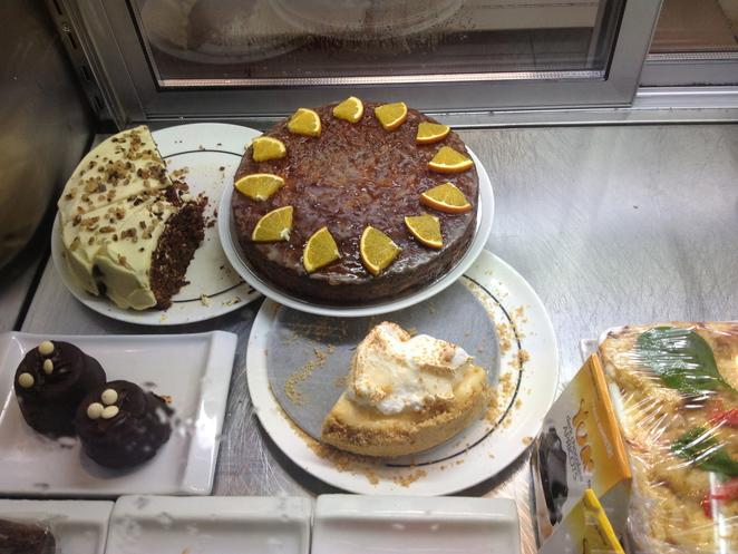 A range of cakes on offer