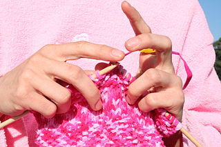 knit, knitting, pink, stitches