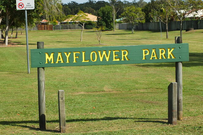 Maroochy Waters Three Parks Loop, 3.3km, neighbourhood walk, walkers, runners, cyclists, unbusy, quick exercise fix, mobile GPS, Tepequar Drive, Maroochydore, Mayflower Park, playground, cricket, footie, quirky gardens, canal jetty, fish, green spaces, easy, loopity loop