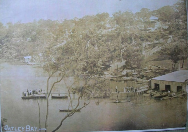 oatley bay, history, 1906, rowing club, boat shed, pleasure grounds