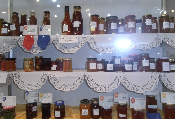 Prize-winning home preserves on display