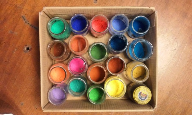 We've just found beautiful pigments out