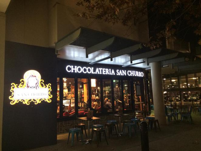 San Churro, Woden, chocolate, coffee, cafe, dessert restuarant, cake, after the movies,