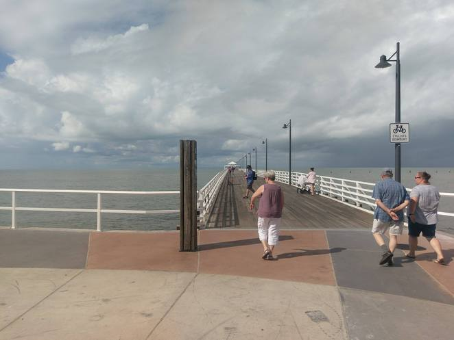 shorncliffe pier, fishing moreton bay, picnic by the sea, walk, jetty, scenic drive