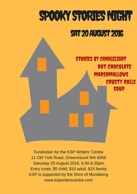 Spooky Stories Night, KSP Writers Centre, Candlelight Stories, Soup and Rolls, Ghost Stories