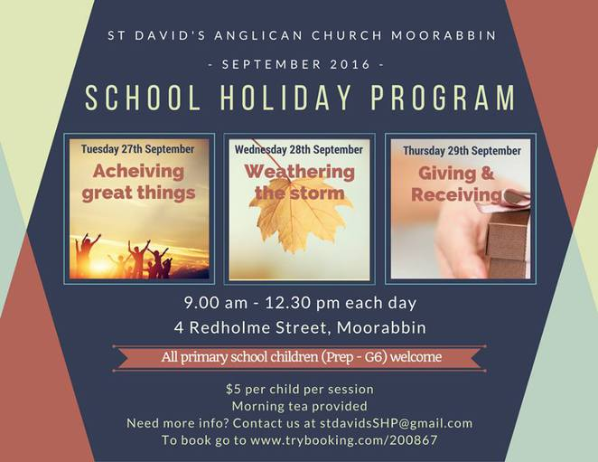 St David's Anglican Church School Holiday Program