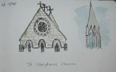 St Stephen's Cathedral, Brisbane Sketchcrawl