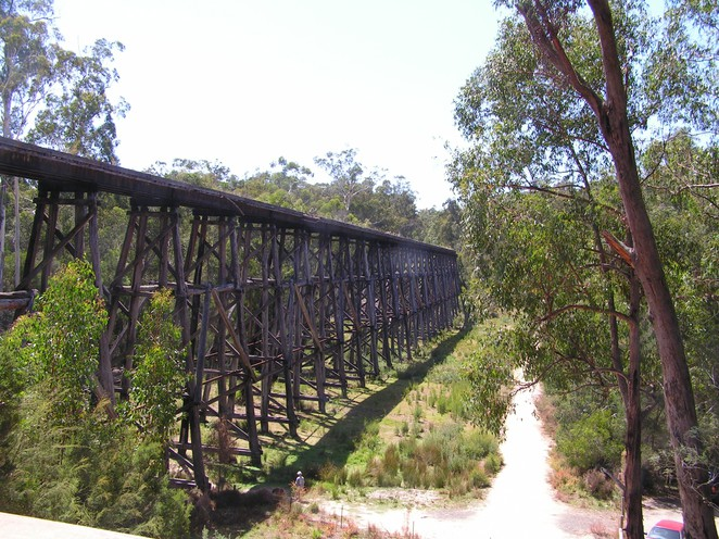 stony creek, trestle bridge, east gippsland rail trail, heritage rail, nowa nowa, gippsland lakes, heritage railway,