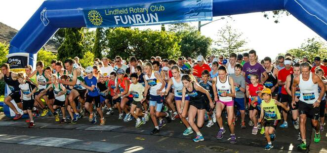 Sydney fun run, Sydney marathon, Sydney family fun run, Sydney walkathon, Rotary fun run, Lindfield Rotary