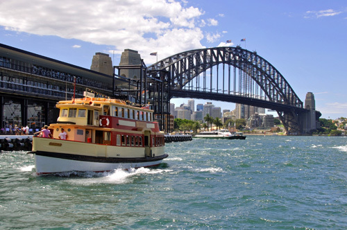 Sydney New South Wales NSW Harbour Ferry Ferries Boats Ship Ships Shipping
