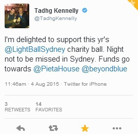 Tadhg Kennelly, Former Sydney Swans AFL Player, is backing the inaugural Light Ball in Sydney
