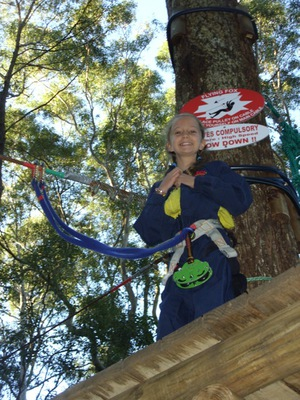 The Green Challenge high ropes at Currumbin Wildlife Sanctuary