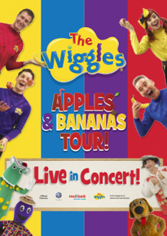 The Wiggles, apples, bananas, tour, kids, concerts, music, dorothy the dinosaur,