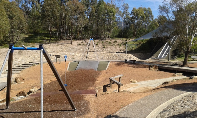 Tidbinbilla p;ayground, Tidbinbilla Nature Discovery Playground, kangaroos, tidbinbilla national park, kids activities, fun things to do with kids, school holidays,