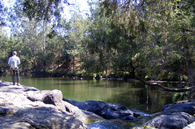The swimming hole at the lower campground at Tooloom Creek