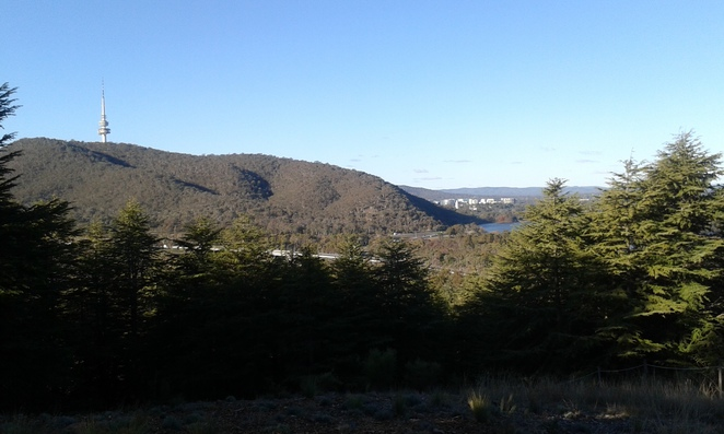View from National Arboretum BBQ area, Canberra