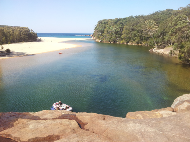 Wattamolla creek australia royal national park jump rock liloing