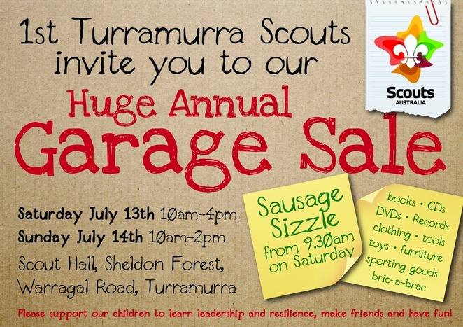 1st turramurra's huge annual garage sale 2019, community event, fun things to do, 1st turramurra scout group, bargains, shopping, second hand goods, upcycle goods, shopping sustainably, free shopping event, bargains, donated goods, household items, clothes, toys, music