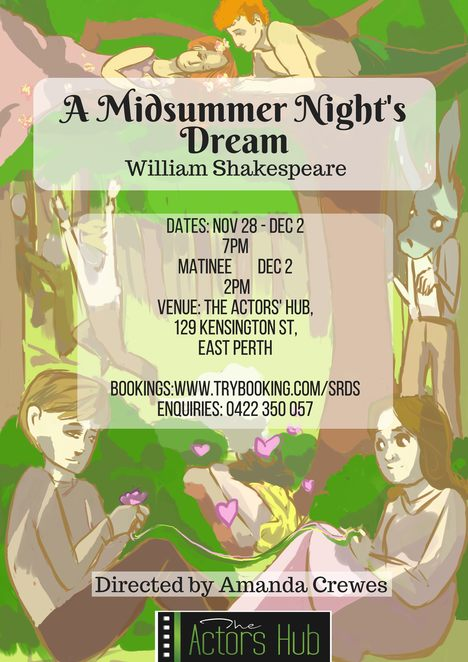 A Midsummer Night's Dream, The Actors' Hub, Shakespeare, theatre, performing arts, comedy, Puck, stage, acting