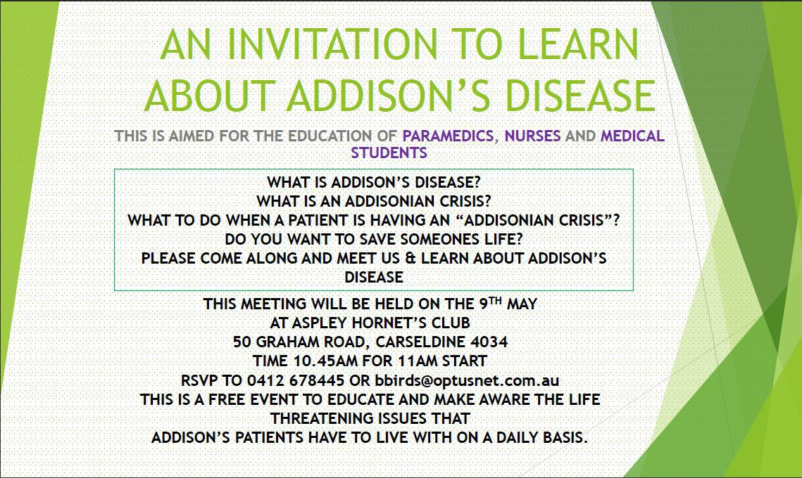 addison's disease awareness lecture - brisbane, Human Body
