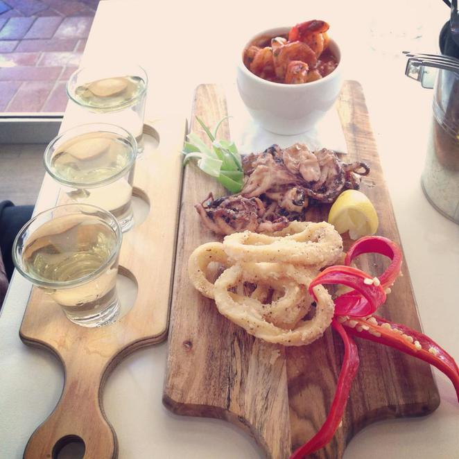 baybreeze, cafe, st george motor boat club, sans souci, seafood, tasting plate, white wine