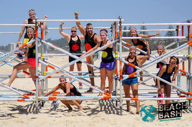 beach bash, coolum beach, sunshine coast, obstacle course, obstacle racing, fun, kids