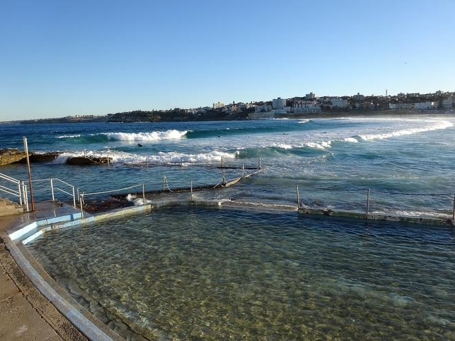 bondi, bondi beach, rock pool, ocean pool, ocean, beach, sydney, new south wales, australia