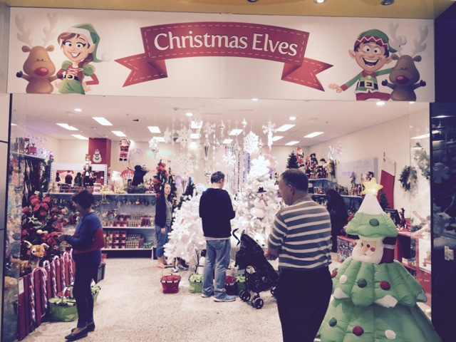 Christmas shopping, Christmas trees and lights, tinsel, decorations and baubles, outdoor illumination, Christmas costumes, nativity, Christmas party ware, Christmas villages and trains.