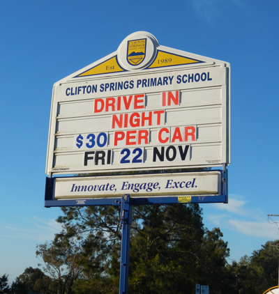 Clifton Springs PS Drive-In Movie 2013