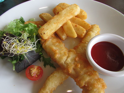 Due East Restaurant and Bar, Fish and Chips